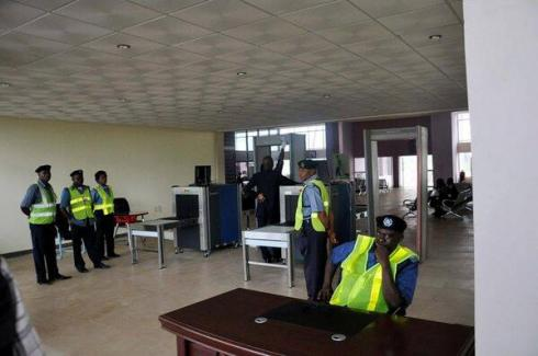 Akanu Ibiam International Airport Enugu Customs and Immigration stand